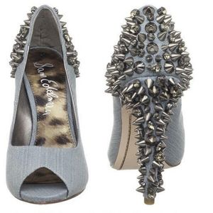 Sam Edelman Lorissa Denim Spike Pumps Heel…